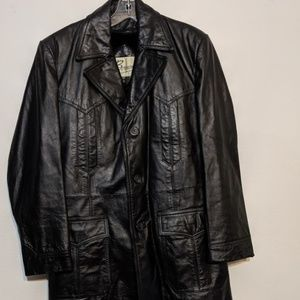 VINTAGE Berman's Leather Blazer Coat Jacket